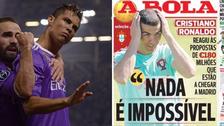 Cristiano Ronaldo sobre la oferta millonaria: