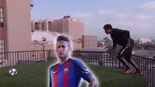 YouTube   Neymar anotó un golazo de tiro libre a 30 metros desde una terraza