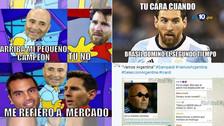 Messi es víctima de los memes tras el triunfo de Argentina ante Brasil