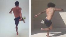 Neymar retó a Marcelo y recibió una lección del madridista