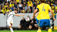 Olivier Giroud anotó gol de volea en el Suecia - Francia