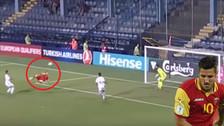 Video | Jovetic anotó gol de 'chalaca' en la goleada de Montenegro ante Armenia