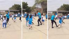 Sergio Ramos jugó una 'pichanga' con escolares de Catacaos