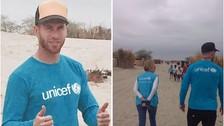 Sergio Ramos está en Perú para ayudar a las víctimas del Fenómeno El Niño