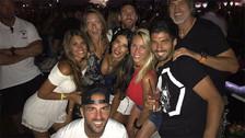 Messi y Antonella Roccuzzo disfrutaron de un concierto de David Guetta