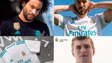 Real Madrid presentó sus camisetas para la temporada 2017-18
