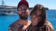 Antonella Roccuzzo y Messi disfrutan sus vacaciones antes de casarse