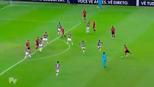 Trauco anotó un golazo al último minuto y evitó la derrota del Flamengo
