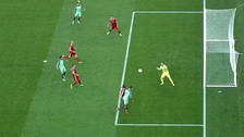 La jugada colectiva detrás del gol de Cristiano Ronaldo