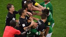 La tremenda pelea que protagonizaron los futbolistas de México y Nueva Zelanda