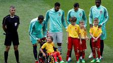Cristiano Ronaldo le cumplió el sueño a una niña en silla de ruedas