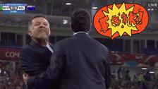 Un iracundo Juan Carlos Osorio insultó a DT de Nueva Zelanda