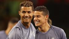 Cristiano Ronaldo se burló de James Rodríguez por teñirse el cabello