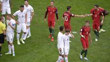 Bernardo Silva definió con un derechazo tras jugada colectiva de Portugal
