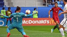 André Silva anotó un golazo en el triunfo de Portugal ante Nueva Zelanda