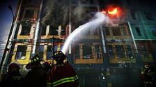 Así fue el tercer día de labor de los bomberos en incendio de Las Malvinas