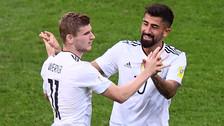 Werner anotó un gol de 'palomita' y selló la clasificación de Alemania
