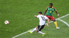 Kerem Demirbay anotó un golazo al ángulo ante Camerún