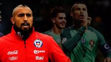 Vidal negó haber criticado a Cristiano Ronaldo previo al Chile vs Portugal