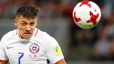 El cabezazo de Alexis Sánchez que rozó el palo ante Portugal
