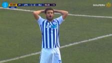 Luis Aguiar falló penal en el último minuto ante UTC