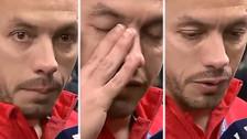 El llanto de Marcelo Díaz al pedir perdón por su error ante Alemania