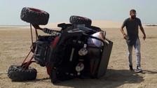 Gerard Piqué sufrió un accidente con un tubular en la dunas de Catar