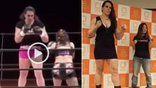YouTube | Estrella de la MMA noqueó a su diminuta rival con patada ilegal