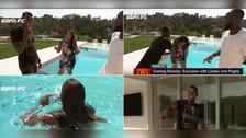 YouTube | Pogba tiró a la piscina a periodista después de ganarle en 'piedra, papel o tijera'