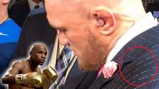 Conor McGregor provocó a Floyd Mayweather con mensaje oculto en su terno