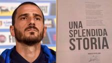 Bonucci compró la página de un diario para despedirse de Juventus