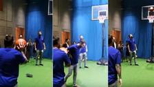 YouTube | Lionel Messi demostró su habilidad para jugar al básquetbol