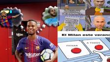 Barcelona y Real Madrid en la mira de los memes del mercado de fichajes