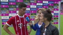 YouTube | James Rodríguez debutó en Bayern y ya dice palabras en alemán
