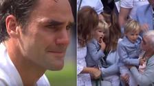 YouTube | Federer lloró al ver a sus hijos tras ganar Wimbledon por octava vez