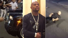 YouTube | Floyd Mayweather atropelló a guardaespaldas por huir de sus seguidores