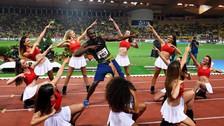 YouTube   Usain Bolt festejó triunfo en Mónaco bailando con porristas