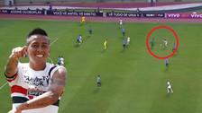YouTube | Christian Cueva hizo gran jugada en empate de Sao Paulo