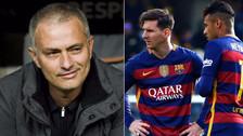 YouTube | José Mourinho y el efusivo saludo con Lionel Messi y Neymar