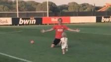 La celebración más tierna de Griezmann: con su hija en práctica del Atlético