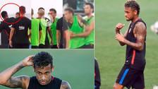 YouTube | Neymar se peleó con Semedo en el entrenamiento de Barcelona