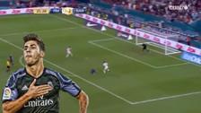 Marco Asensio anotó un golazo tras un gran contragolpe del Real Madrid