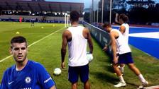 Morata se lució con un golazo olímpico de zurda en las prácticas del Chelsea