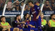 YouTube | Tras ser cambiado: el tenso saludo de Neymar con  Messi y Suárez