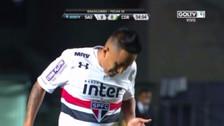 Solo ante el arquero: el blooper de Cueva en el Sao Paulo - Coritiba