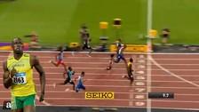 Bolt ganó en los 100 metros tras pasar de último a primero en solo 8 segundos