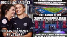 Neymar protagoniza los memes tras ser presentando ante los hinchas del PSG