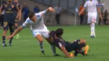 Jugador sufrió una escalofriante fractura en la liga francesa