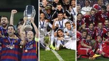 Los últimos 10 ganadores de la Supercopa de Europa