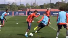 YouTube   Neymar eludió a Di María con esta jugada en entrenamiento de PSG